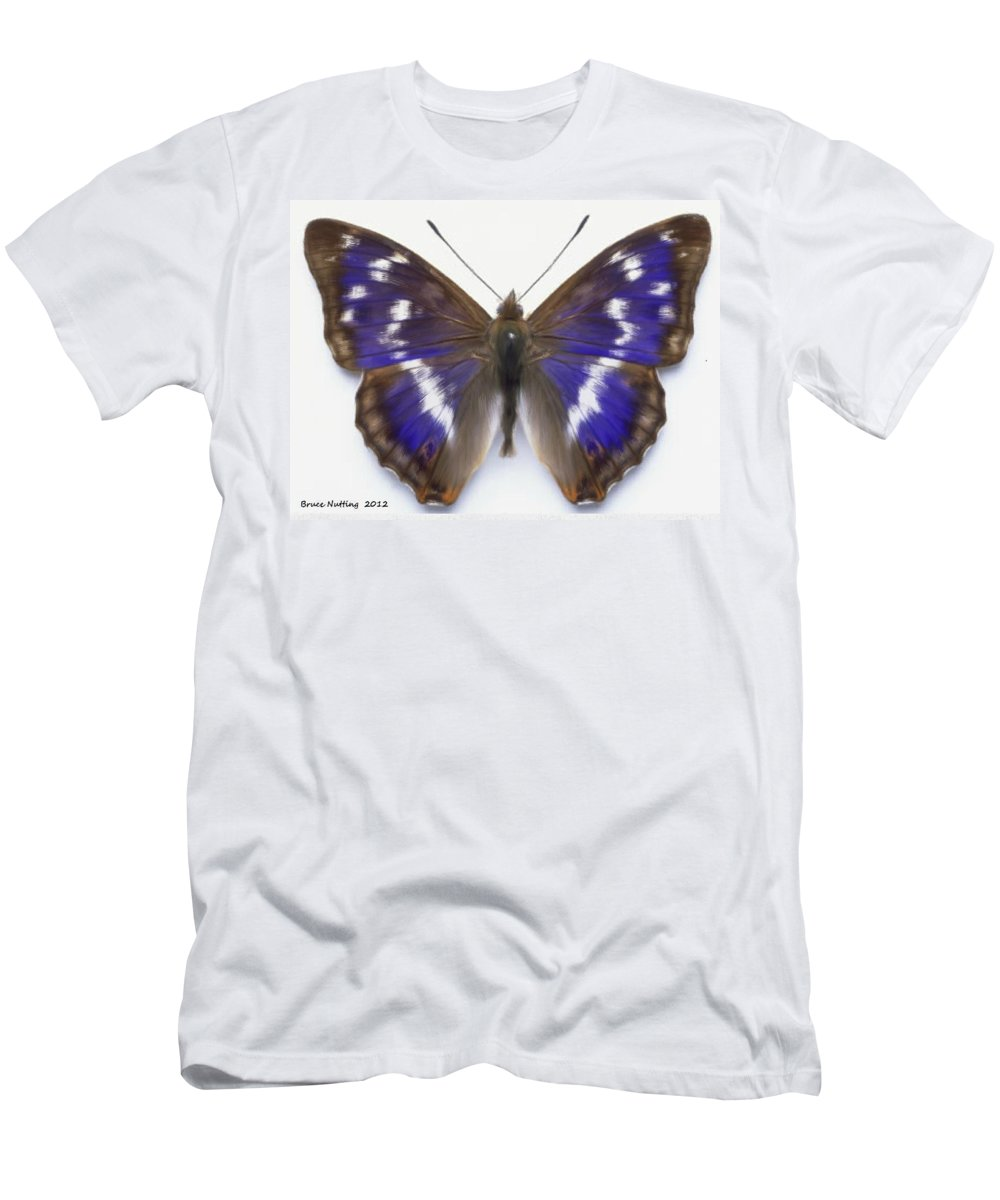 Butterfly Men's T-Shirt (Athletic Fit) featuring the painting Only One by Bruce Nutting
