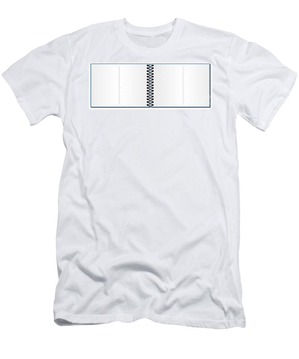Illustration Men's T-Shirt (Athletic Fit) featuring the digital art Open Book by Henrik Lehnerer