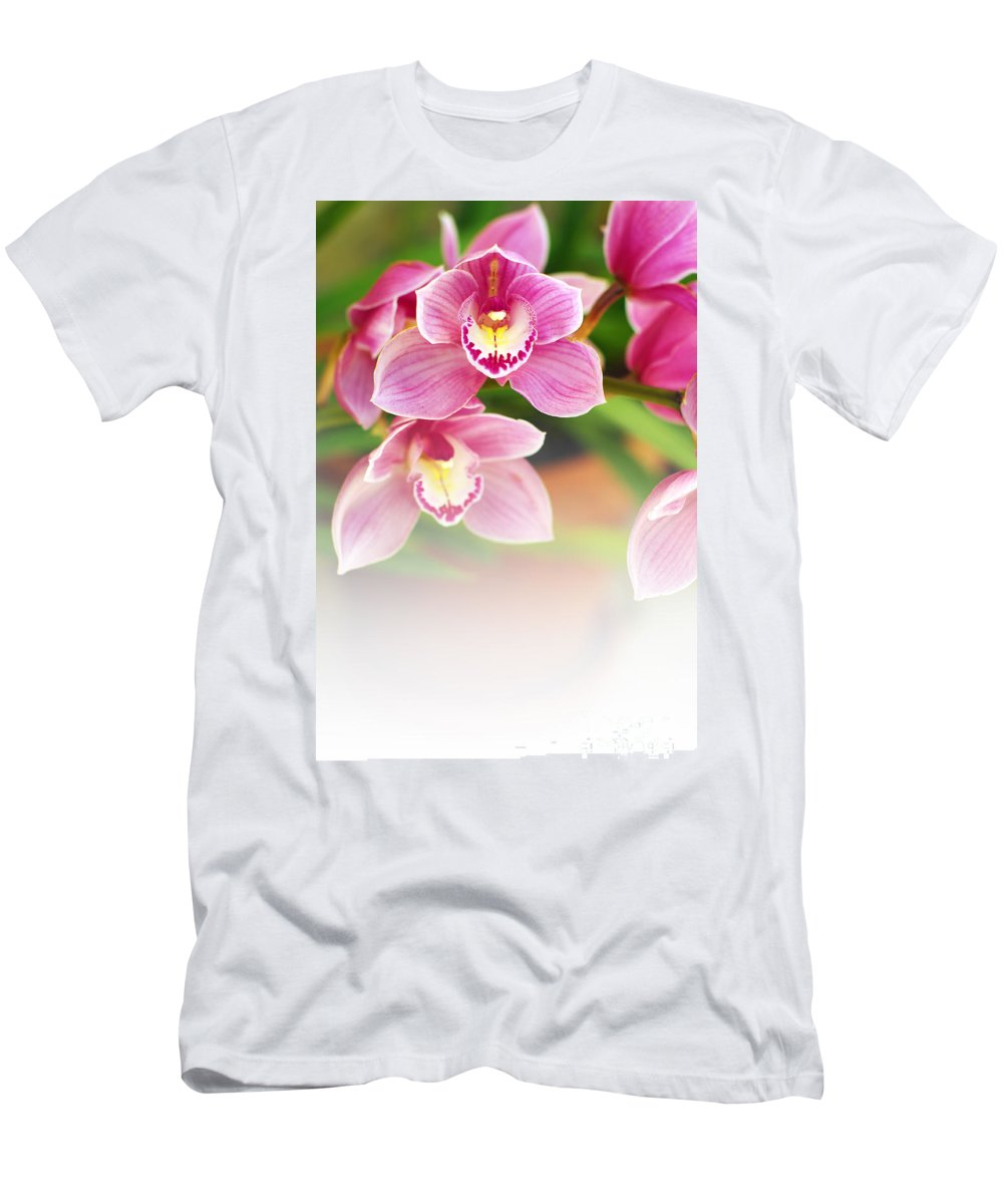 Abstract Men's T-Shirt (Athletic Fit) featuring the photograph Orchids by Carlos Caetano