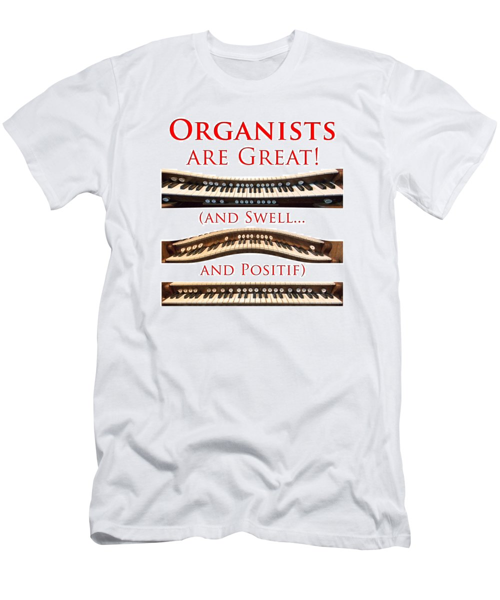 Organists Are Great Men's T-Shirt (Athletic Fit) featuring the photograph Organists Are Great by Jenny Setchell