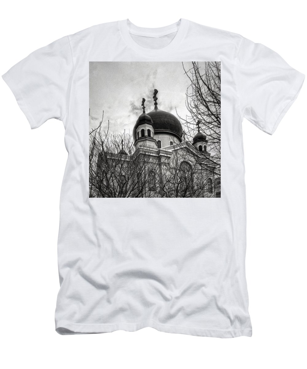 Orthodox Men's T-Shirt (Athletic Fit) featuring the photograph Orthodox Church by H James Hoff