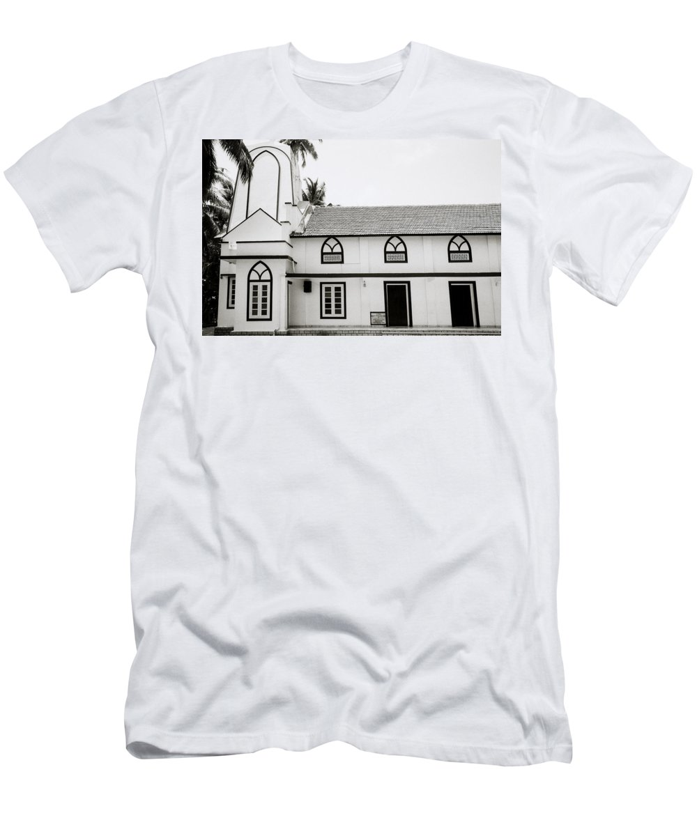 India Men's T-Shirt (Athletic Fit) featuring the photograph Orthodox Syrian Church In Cochin by Shaun Higson