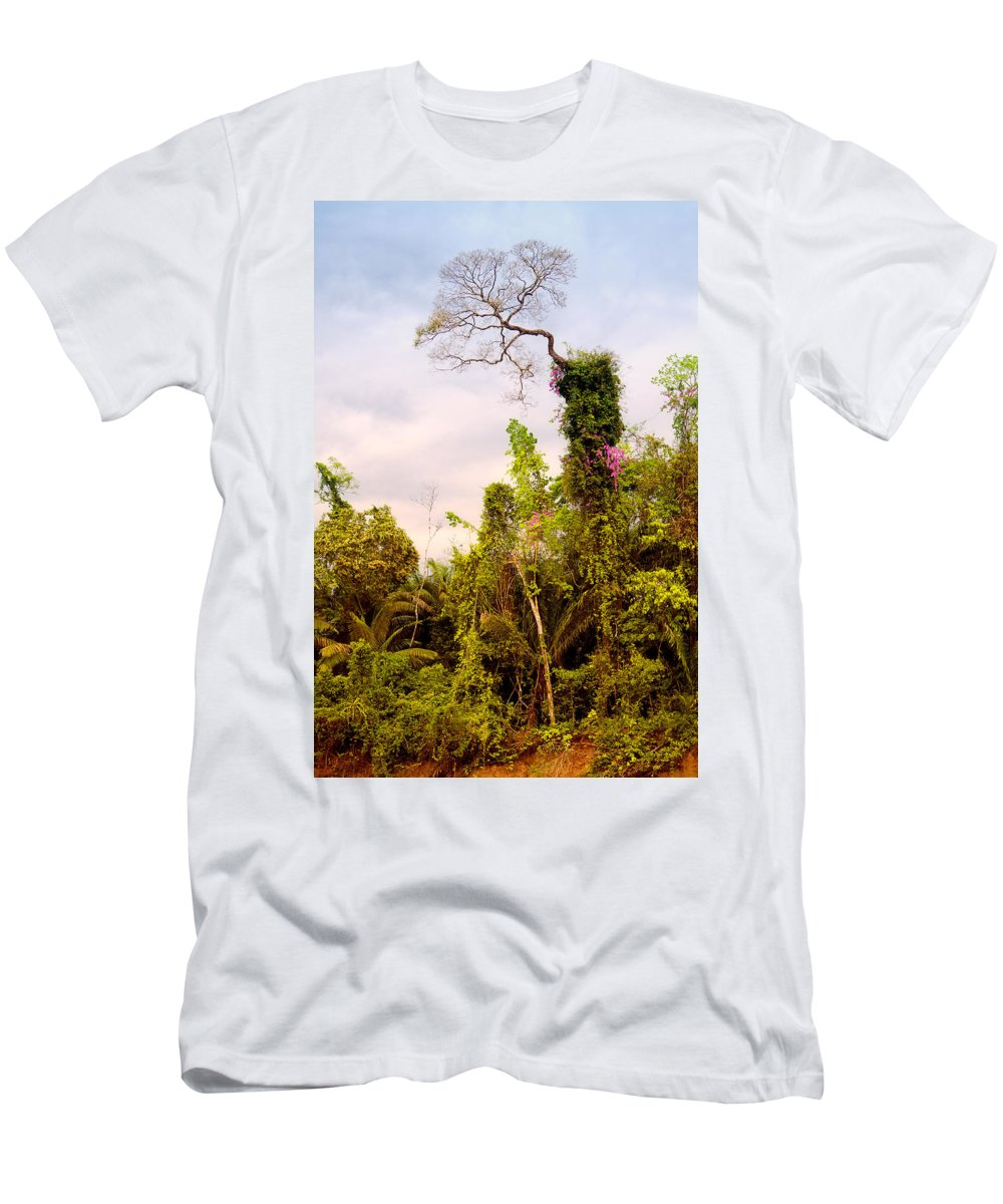 Rainforest Men's T-Shirt (Athletic Fit) featuring the photograph Out Of The Jungle by Alexey Stiop
