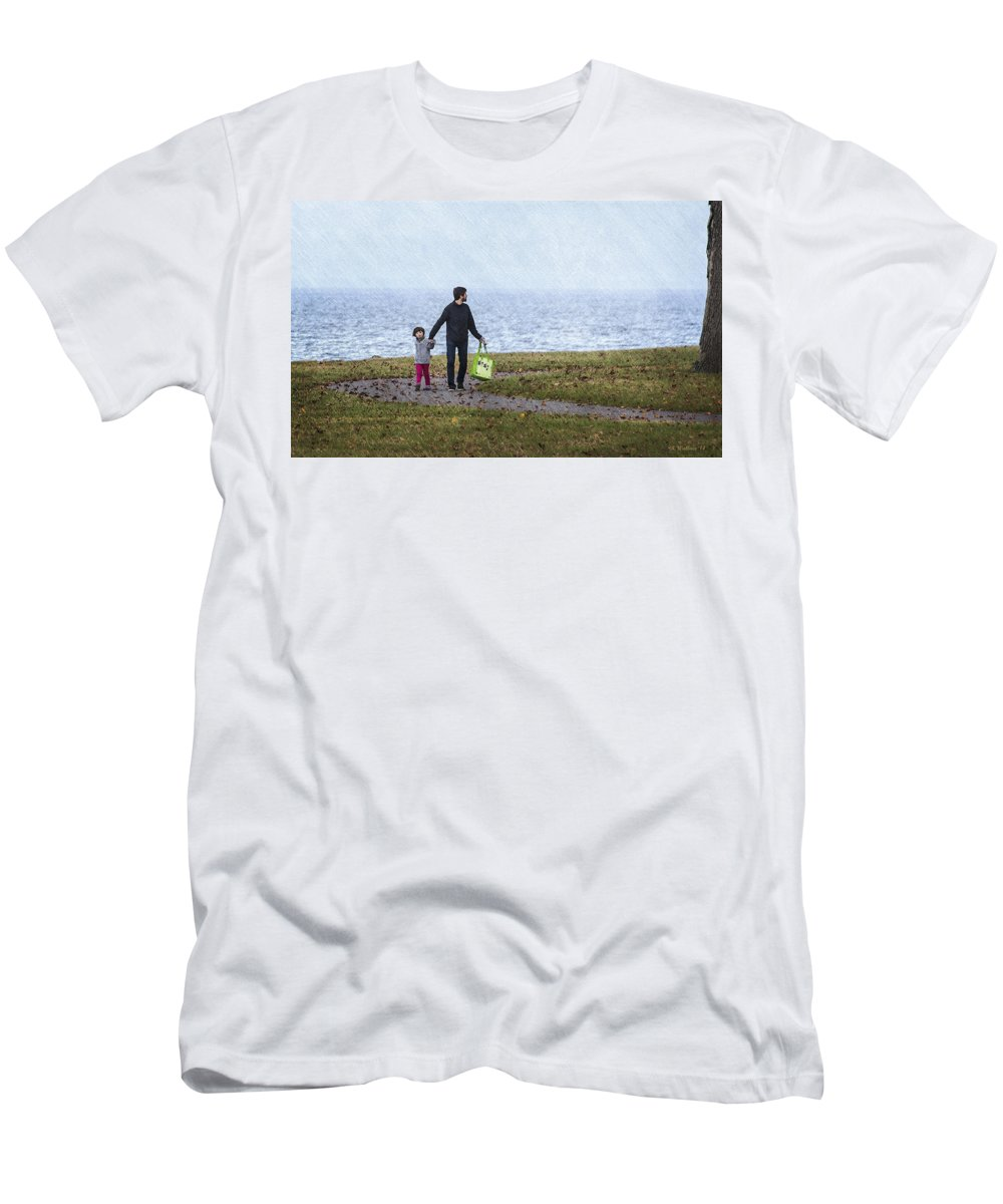 2d Men's T-Shirt (Athletic Fit) featuring the photograph Outing In Autumn by Brian Wallace