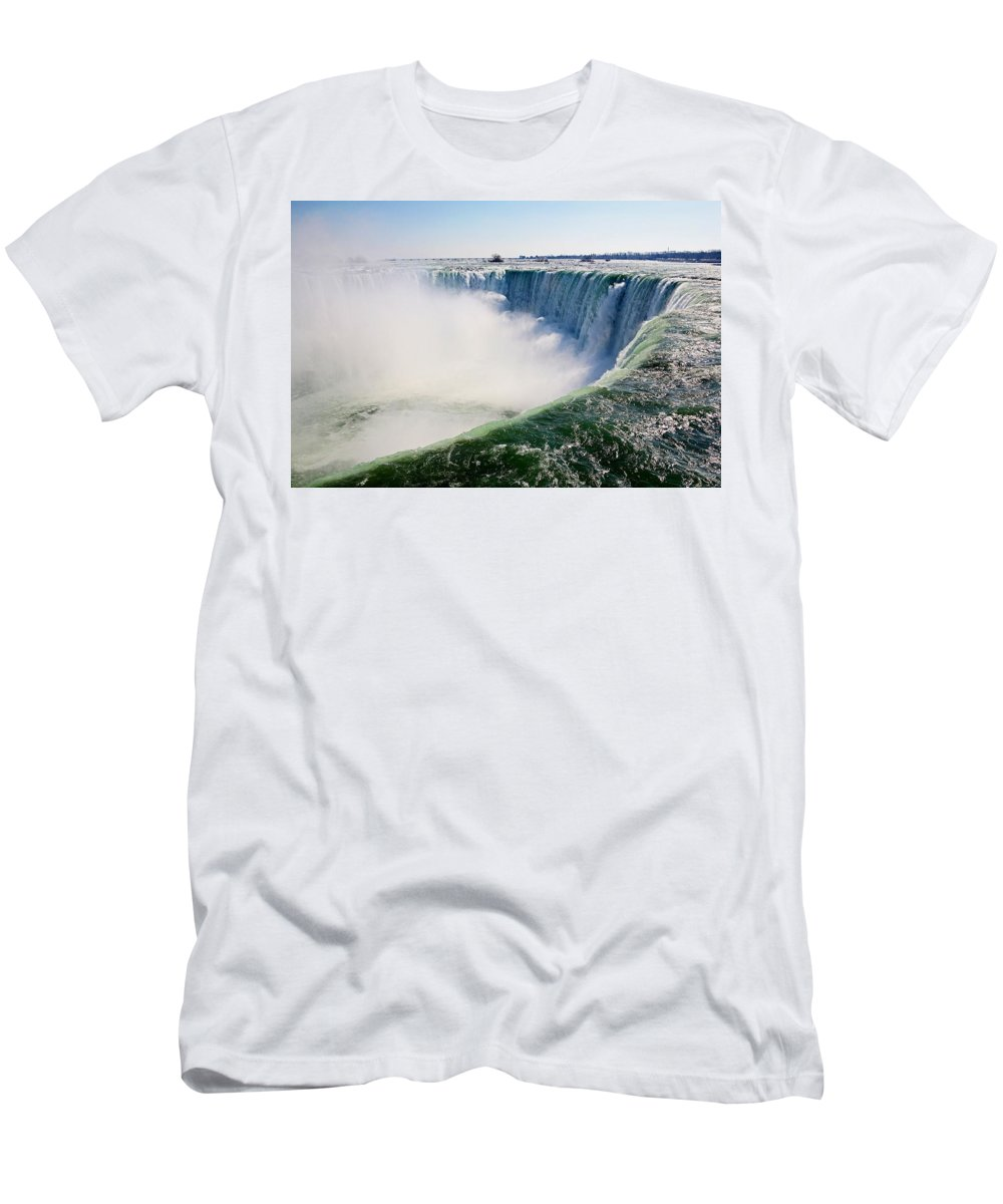 Niagara Falls Men's T-Shirt (Athletic Fit) featuring the photograph Over Falls by Eric Swan