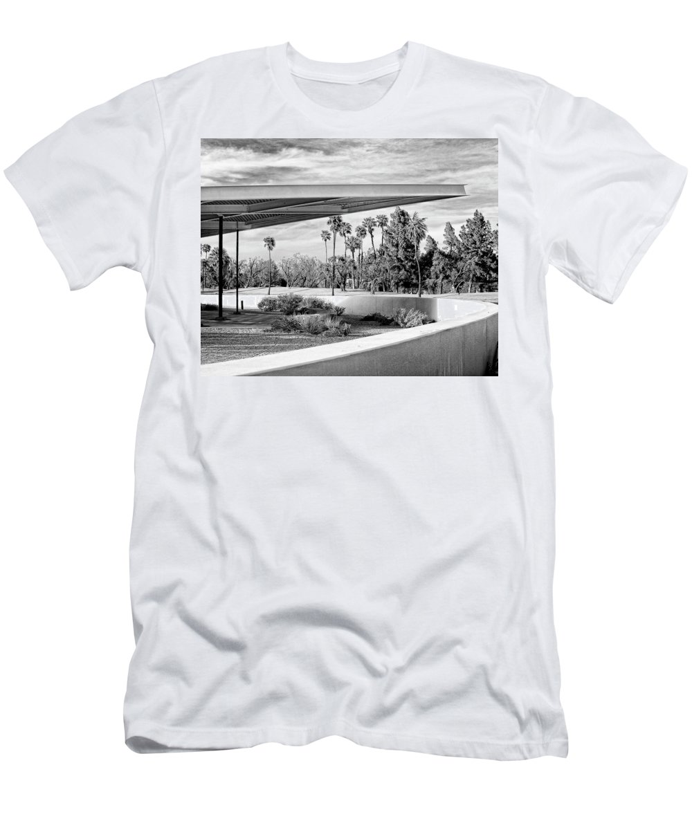 Palm Springs T-Shirt featuring the photograph OVERHANG BW Palm Springs by William Dey