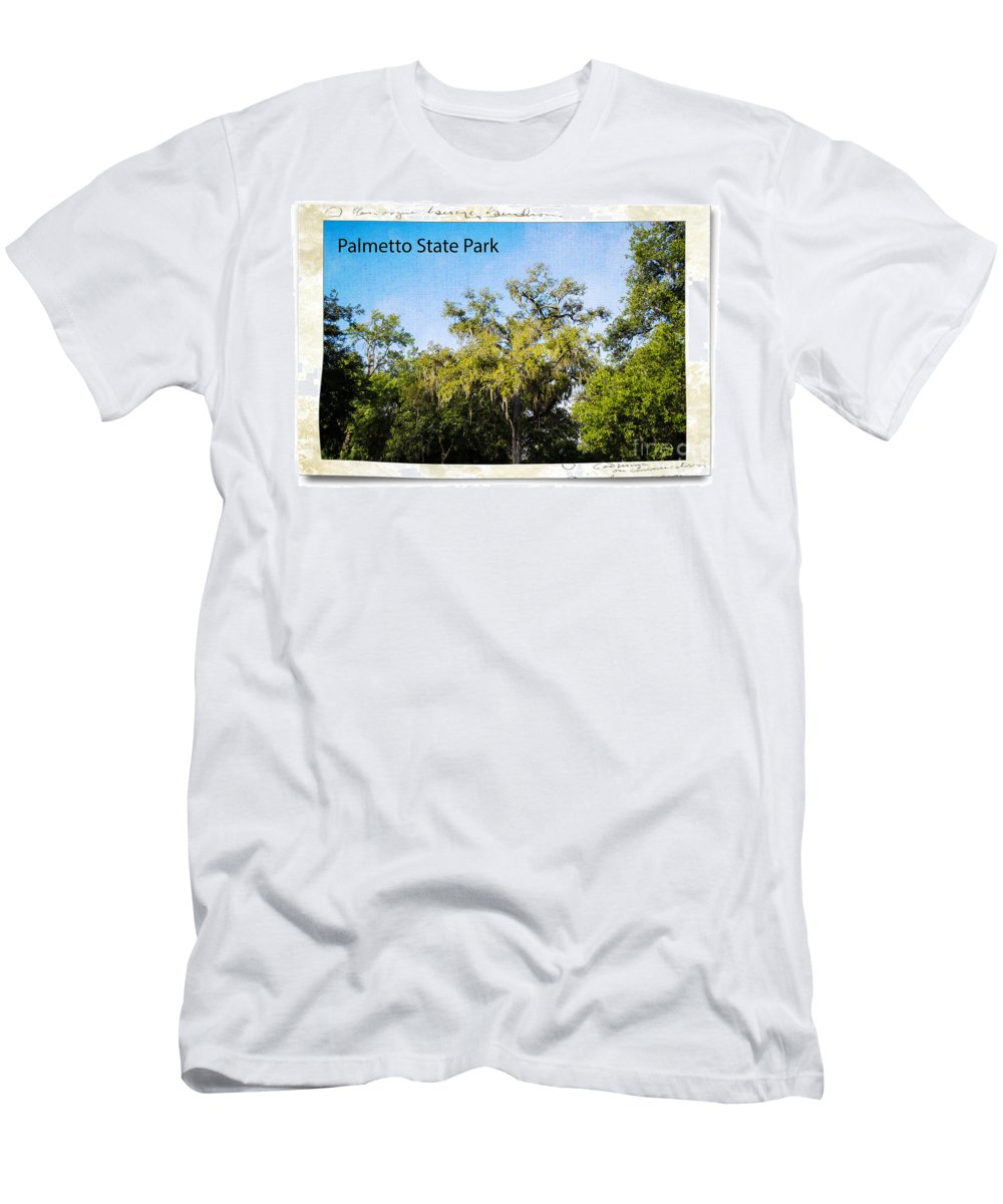 Palmetto State Park Men's T-Shirt (Athletic Fit) featuring the photograph Palmetto State Park by Gary Richards