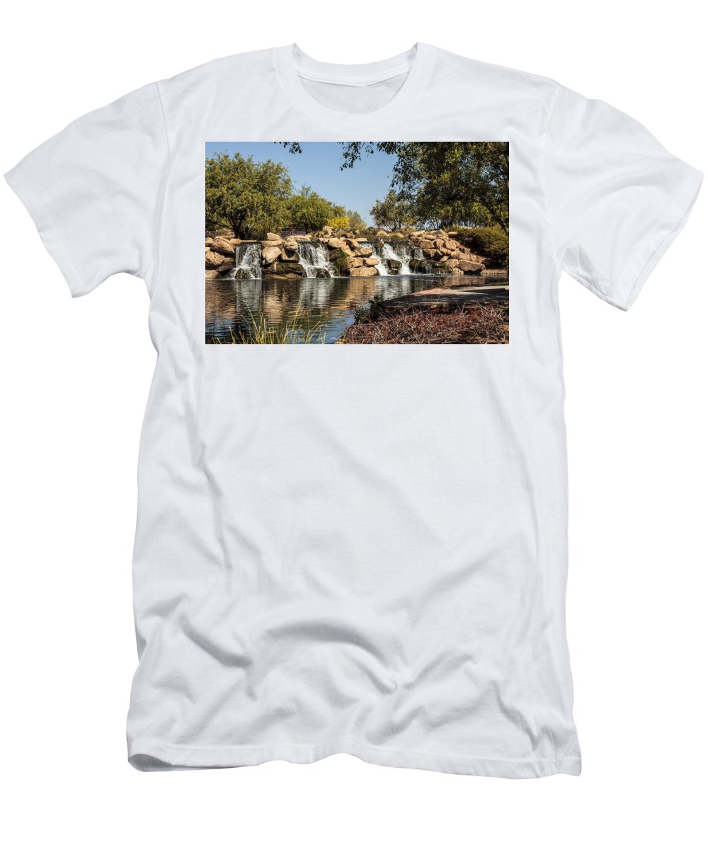 Fred Larson Men's T-Shirt (Athletic Fit) featuring the photograph Park Reflections by Fred Larson
