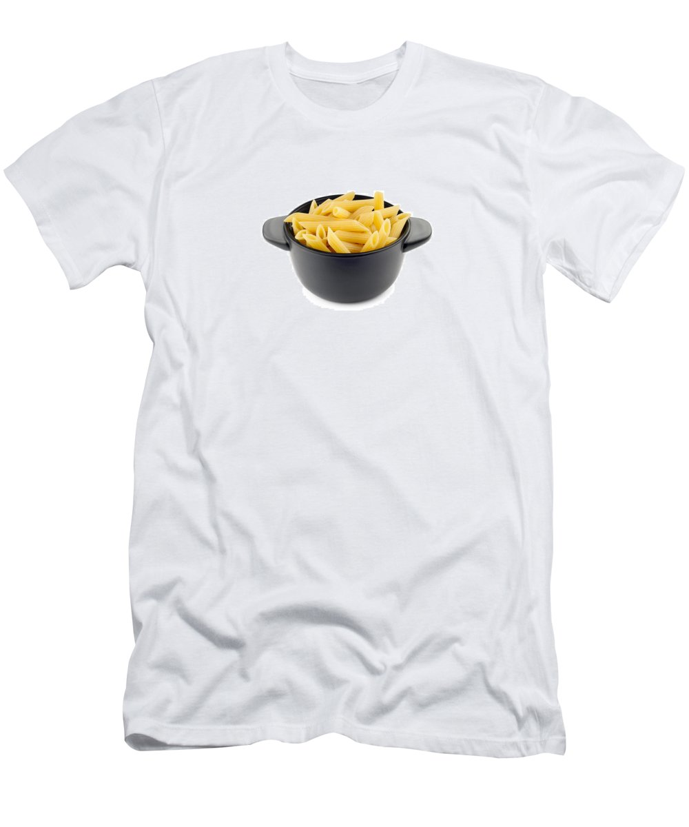 Above Men's T-Shirt (Athletic Fit) featuring the photograph Pasta by Alain De Maximy