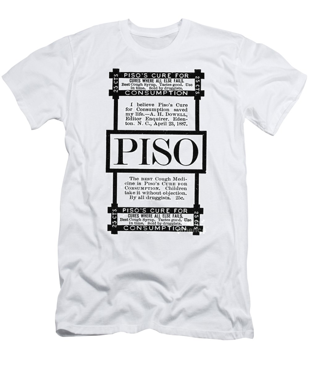 1887 Men's T-Shirt (Athletic Fit) featuring the photograph Patent Medicine, C1887 by Granger