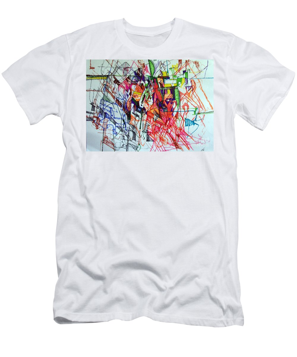 Torah Men's T-Shirt (Athletic Fit) featuring the drawing Perhaps You Know Better 2 by David Baruch Wolk