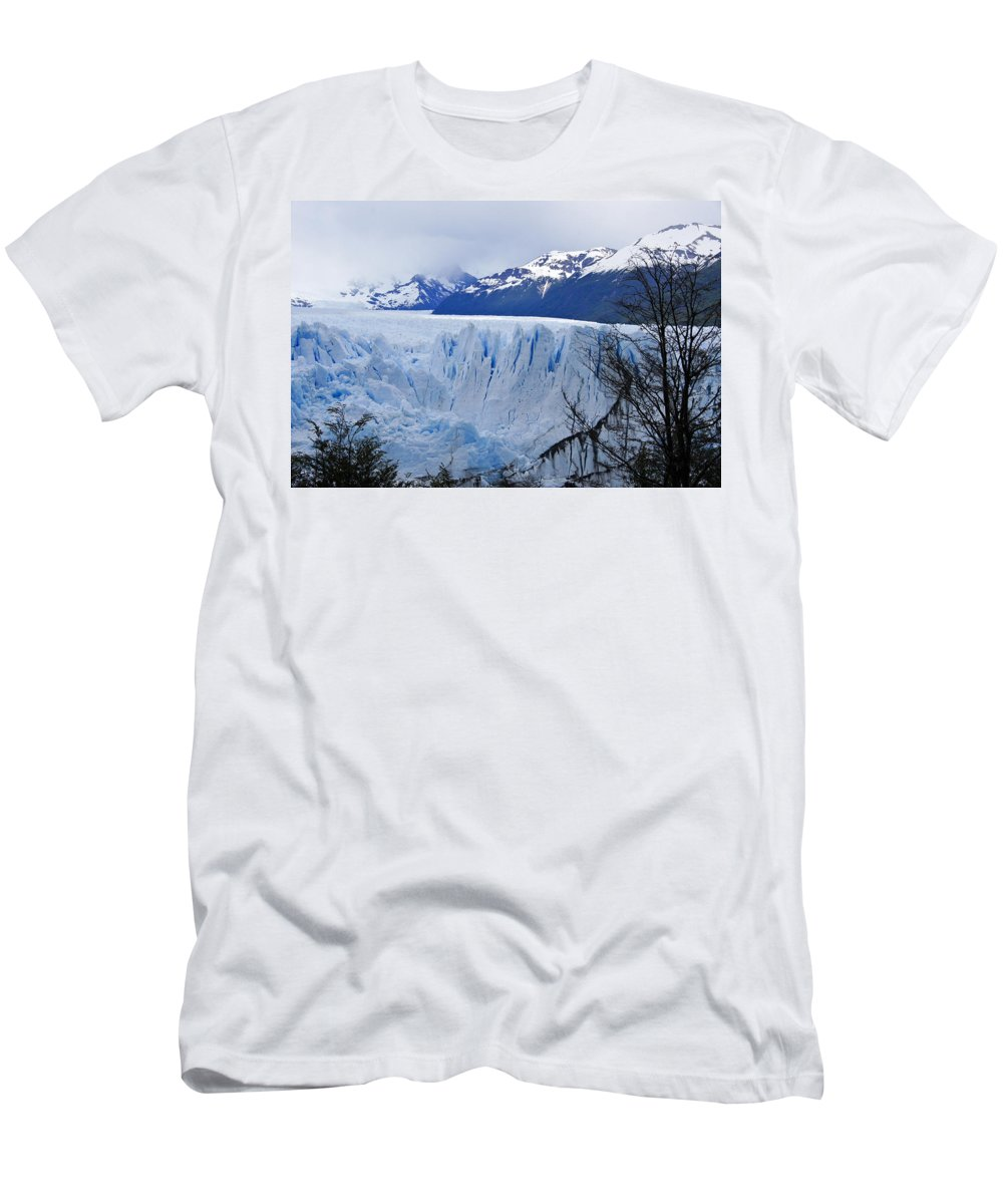Argentina Men's T-Shirt (Athletic Fit) featuring the photograph Perito Moreno Glacier by Michele Burgess