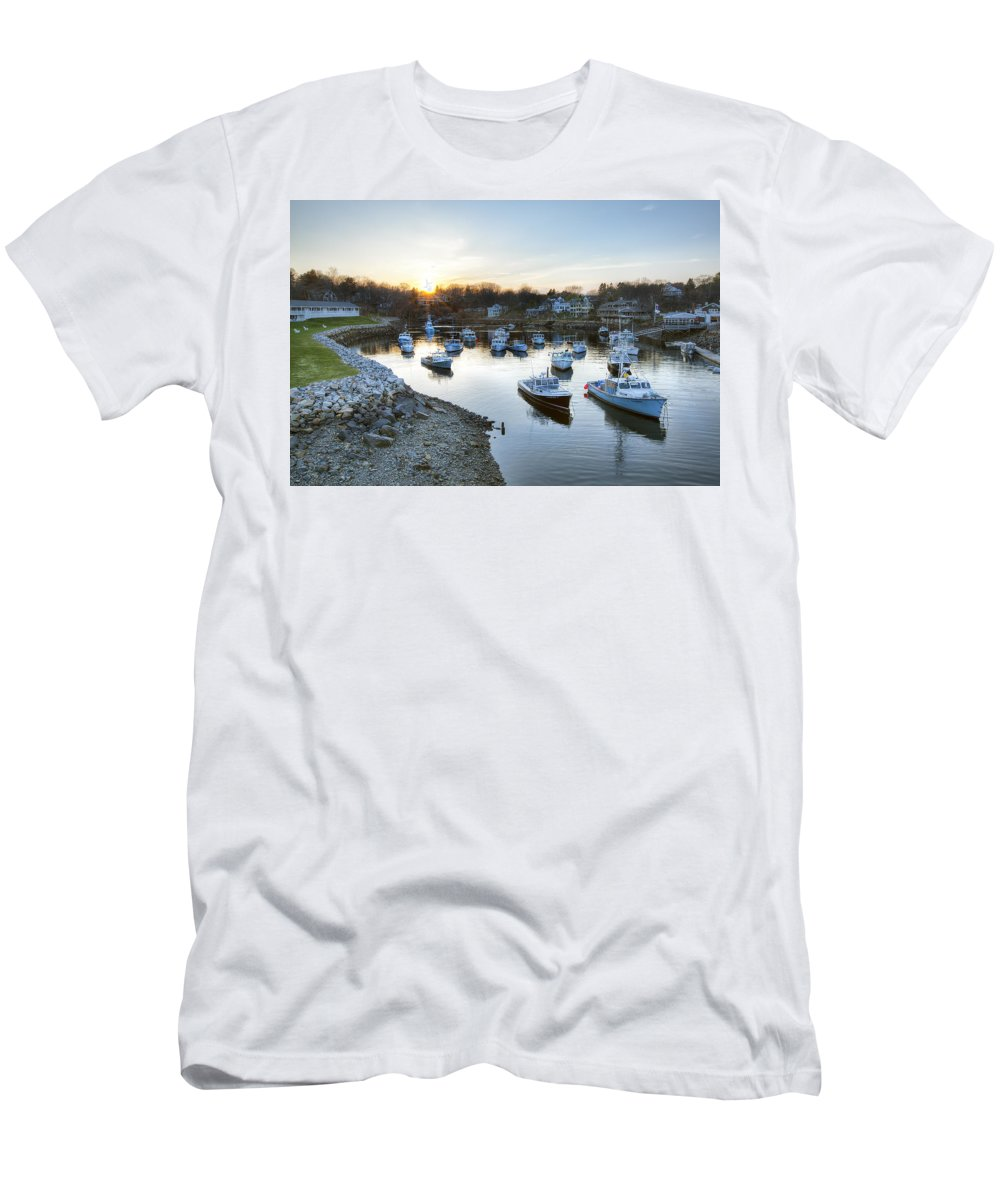 Perkins Cove Men's T-Shirt (Athletic Fit) featuring the photograph Perkins Cove by Eric Gendron