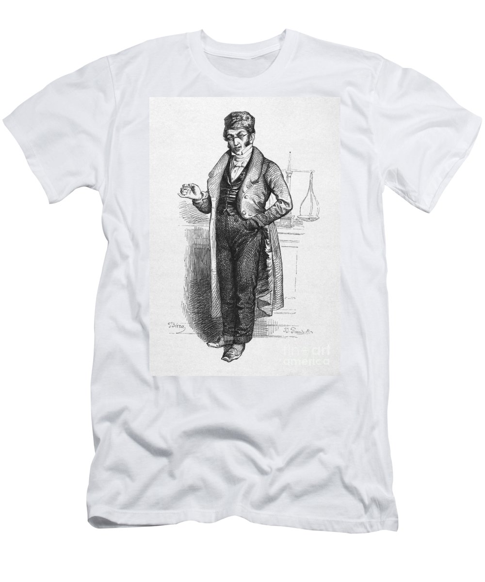 19th Century Men's T-Shirt (Athletic Fit) featuring the photograph Pharmacist, 19th Century by Granger
