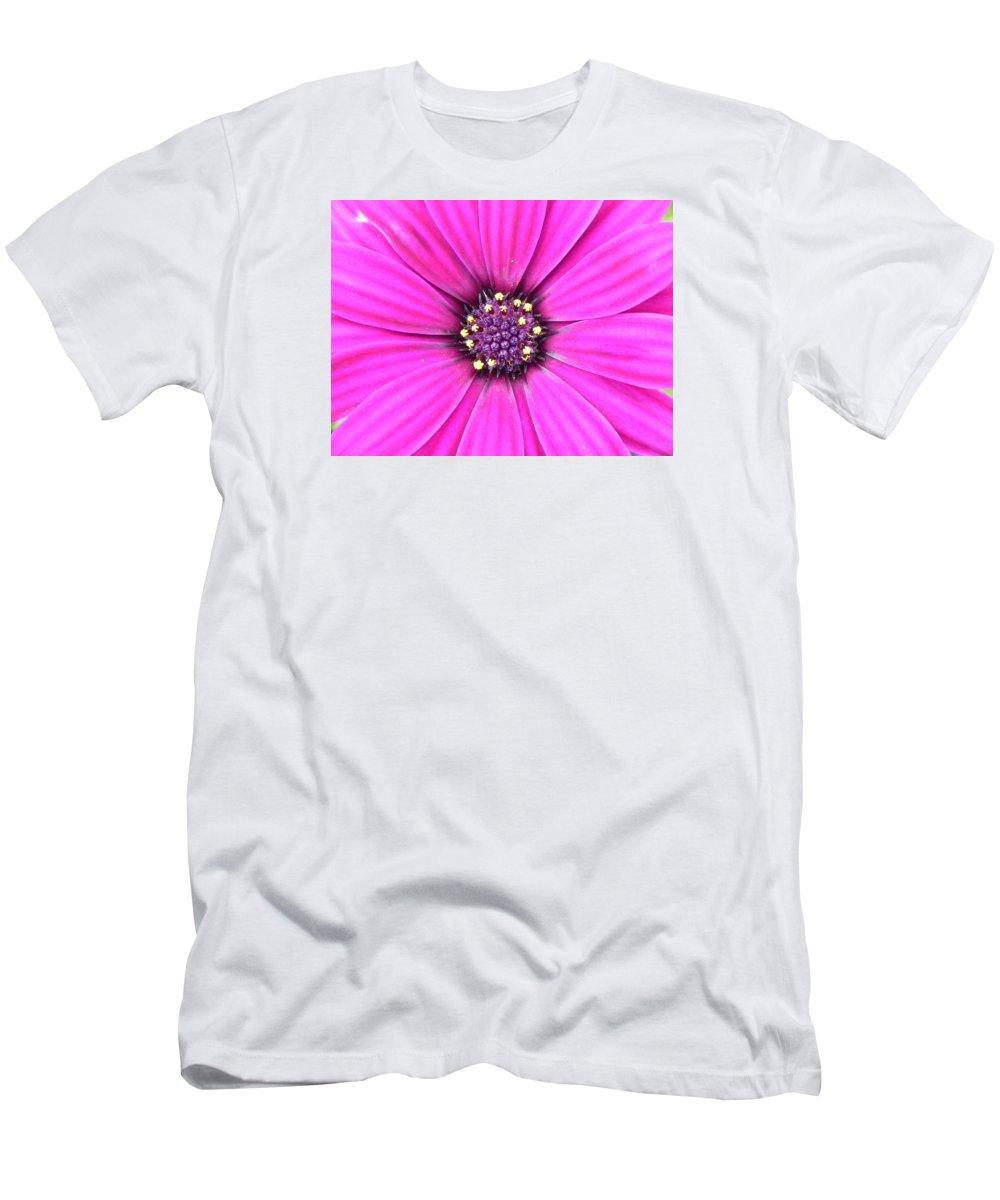 Geranium Men's T-Shirt (Athletic Fit) featuring the photograph Pink Geranium by FL collection