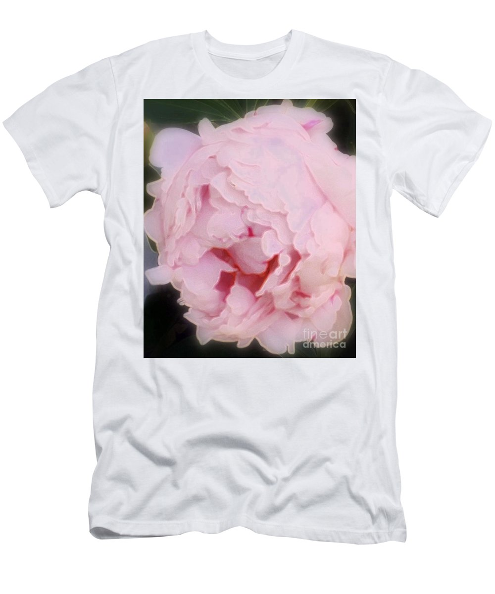 Peony Men's T-Shirt (Athletic Fit) featuring the photograph Pink Pink by Kathleen Struckle