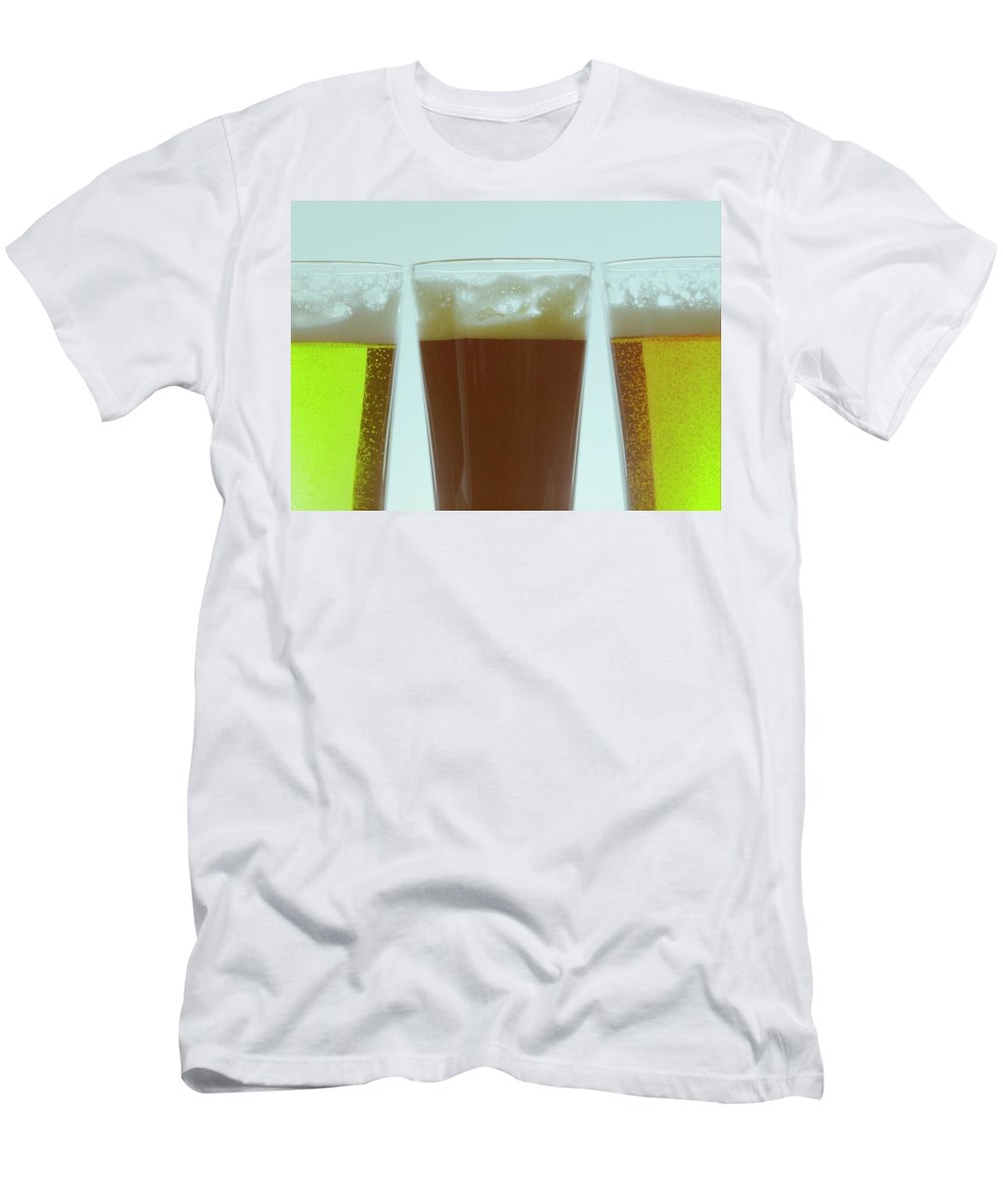 Food Men's T-Shirt (Athletic Fit) featuring the photograph Pints Of Beer by Romulo Yanes