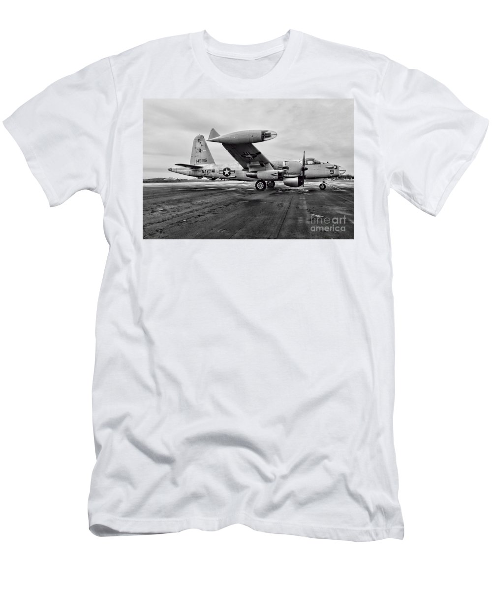 Paul Ward Men's T-Shirt (Athletic Fit) featuring the photograph Plane - P2v-7 Neptune Aircraft by Paul Ward