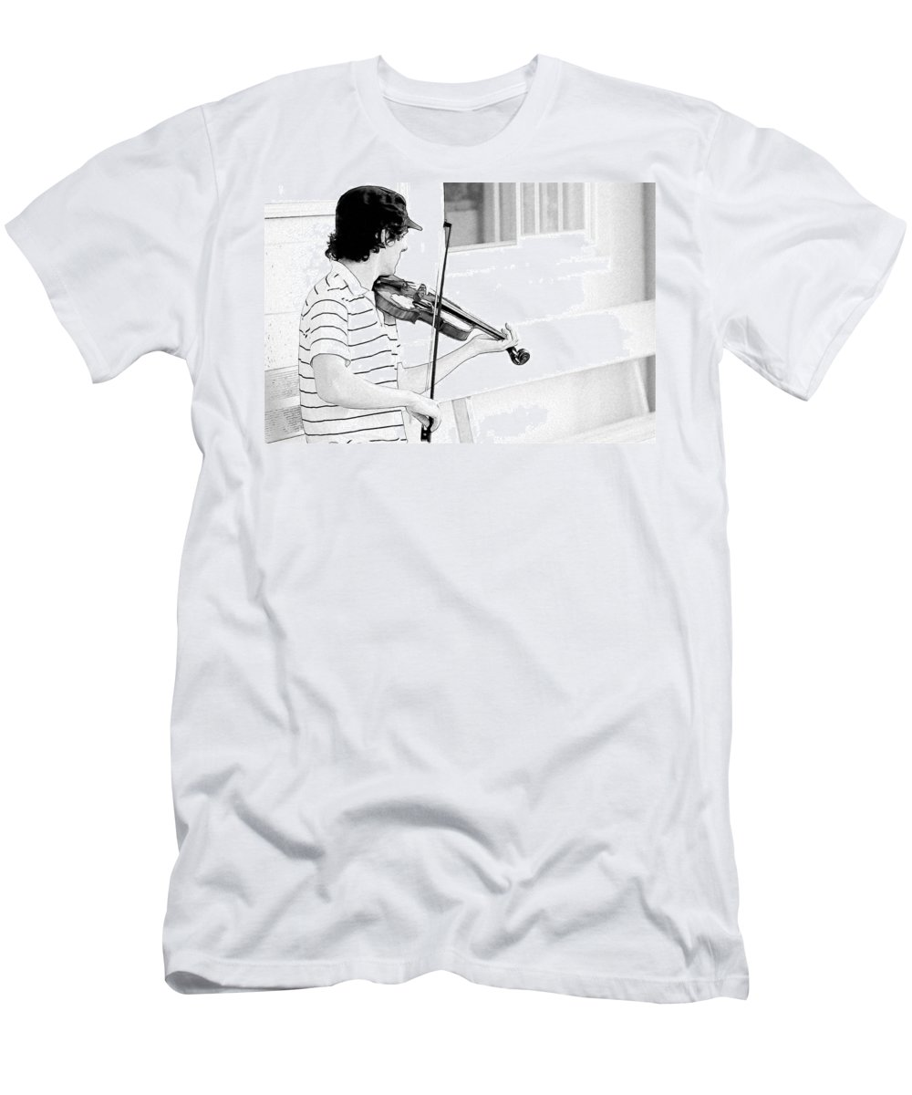 Violin Men's T-Shirt (Athletic Fit) featuring the photograph Playing Violin by Alice Gipson