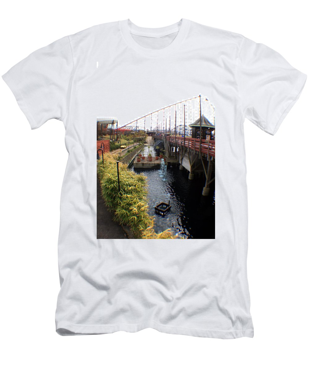 Disney Men's T-Shirt (Athletic Fit) featuring the photograph Pleasure Beach Roller Coaster by Doc Braham