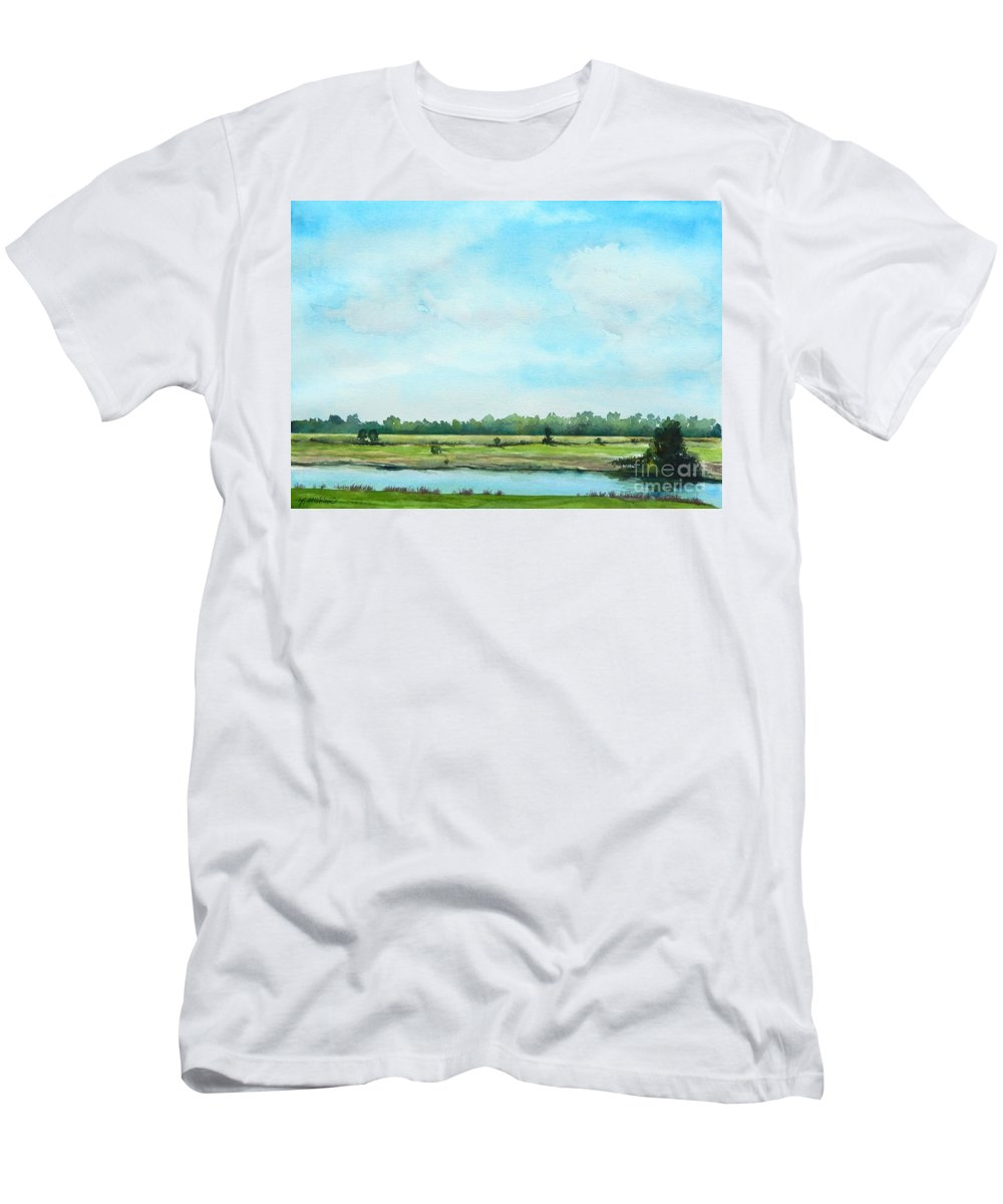 Plein Air Men's T-Shirt (Athletic Fit) featuring the painting Plein Air At Nancy's 2 by Yoshiko Mishina