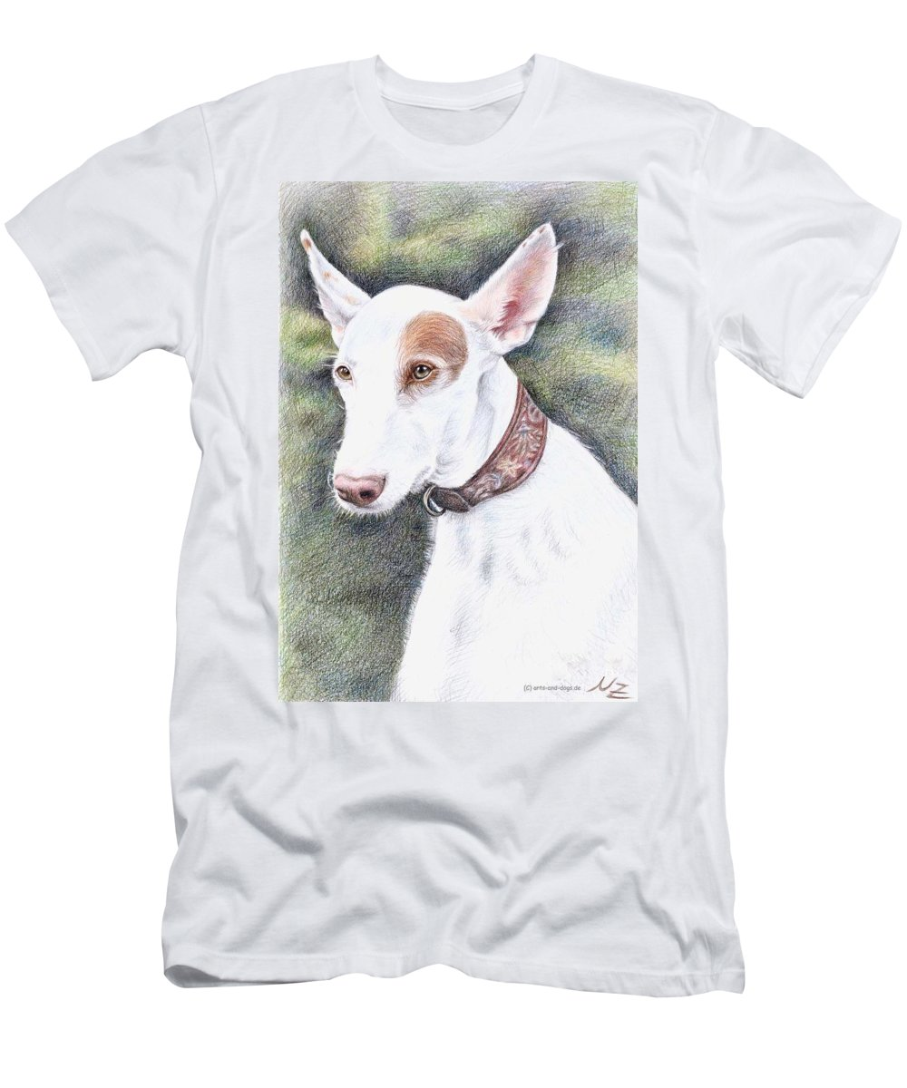 Dog Men's T-Shirt (Athletic Fit) featuring the drawing Podenco Ibicenco by Nicole Zeug