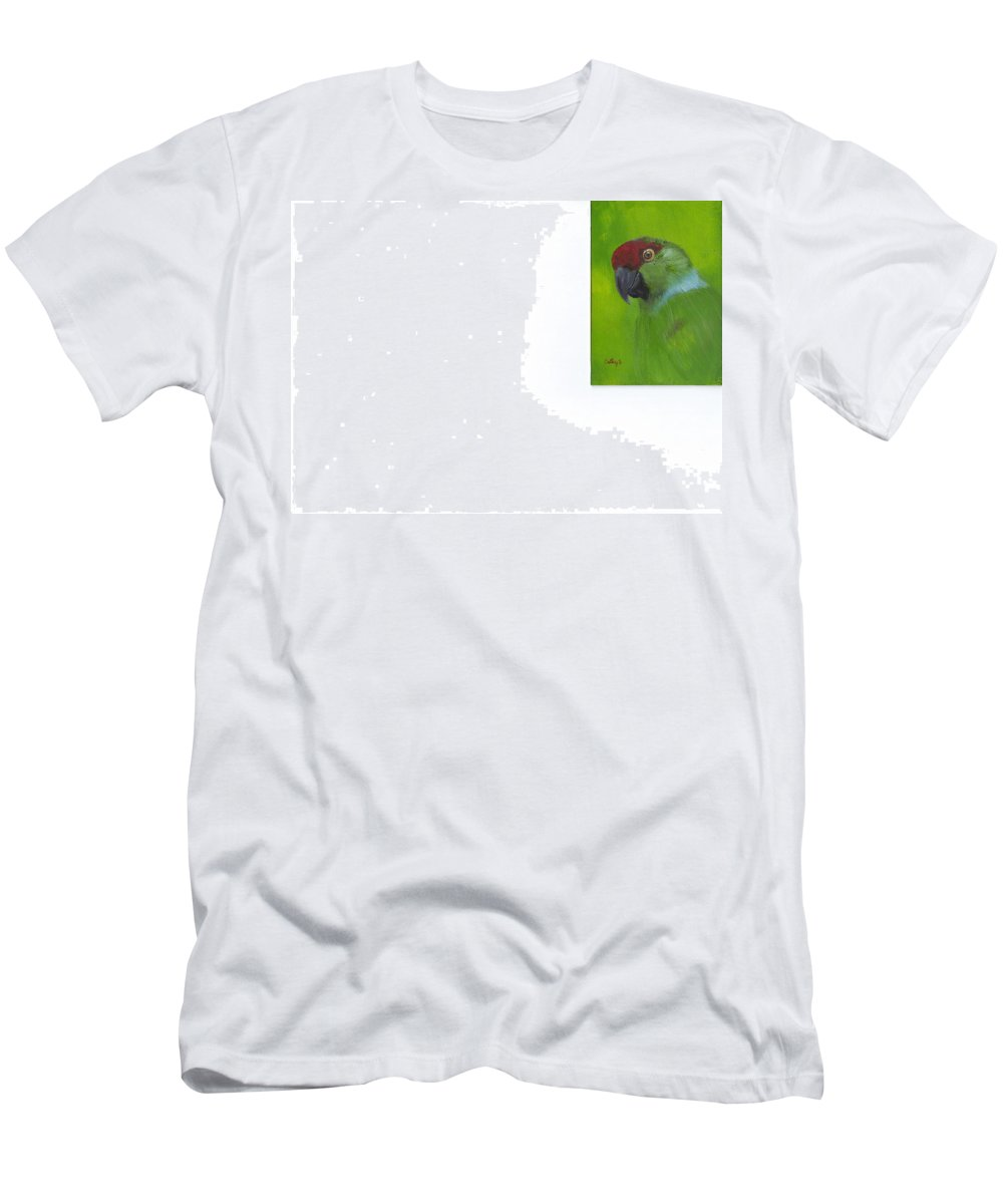 Parrots Men's T-Shirt (Athletic Fit) featuring the painting Polly by Catherine Swerediuk
