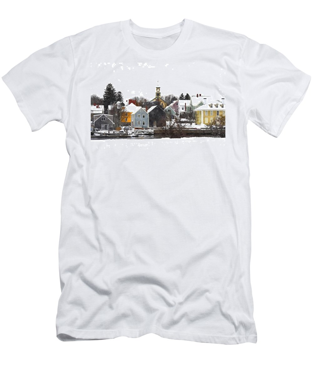 Portsmouth Men's T-Shirt (Athletic Fit) featuring the digital art Portsmouth Waterfront Pwwc by Jim Brage