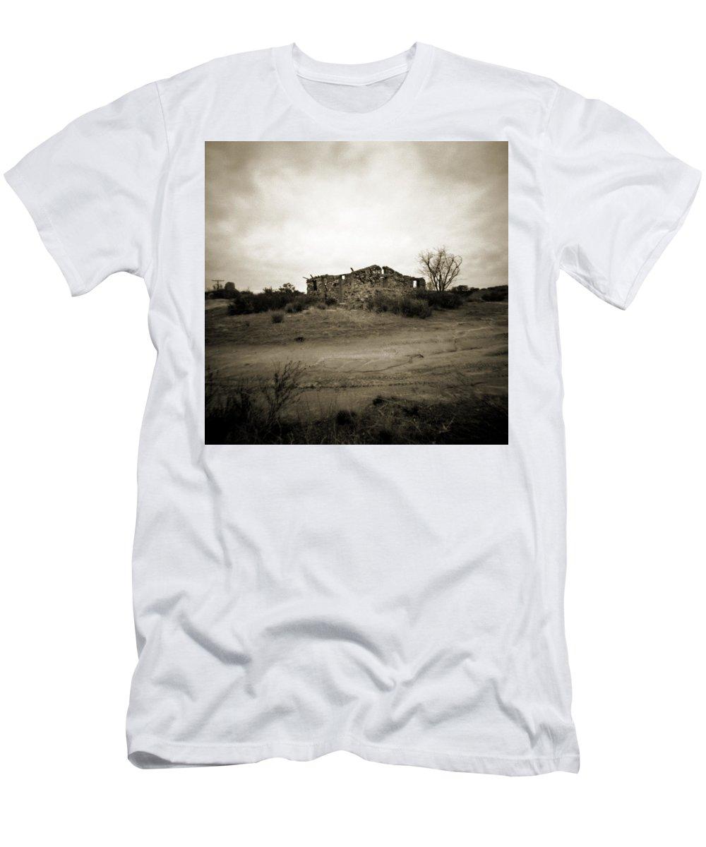 Portrero Men's T-Shirt (Athletic Fit) featuring the photograph Potrero Pinhole by Hugh Smith