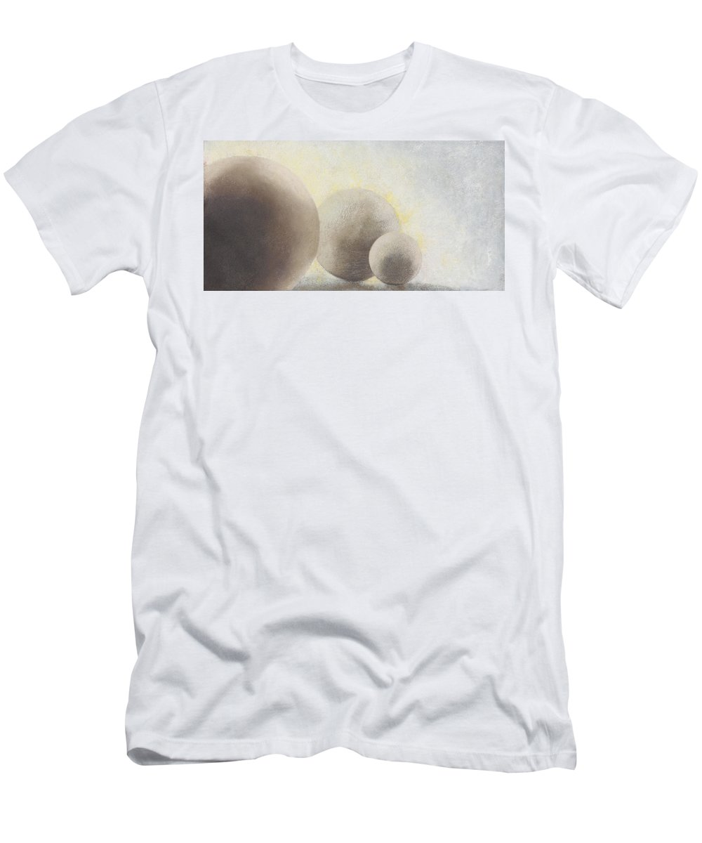 Still-life Men's T-Shirt (Athletic Fit) featuring the painting Powerball by Garry McMichael