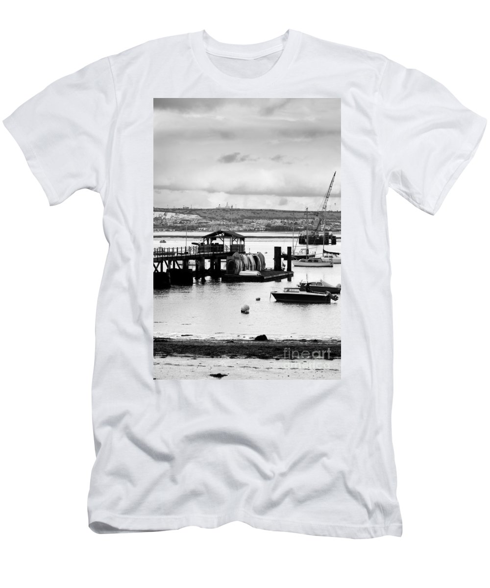Priddy's Hard Men's T-Shirt (Athletic Fit) featuring the photograph Priddy's Hard Boats by Terri Waters