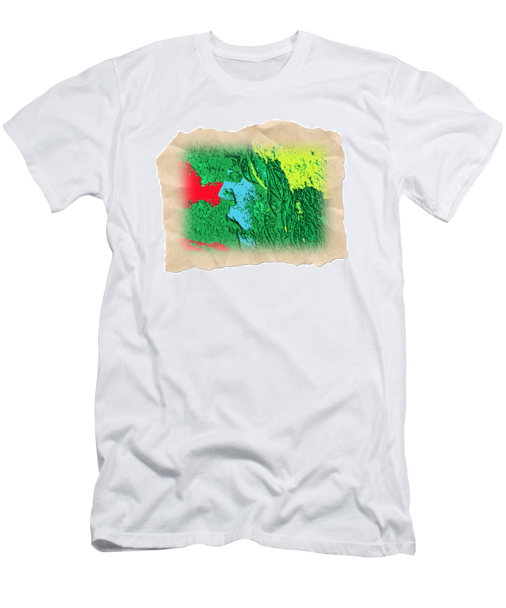 Abstract T-Shirt featuring the photograph Primitive by Dart and Suze Humeston