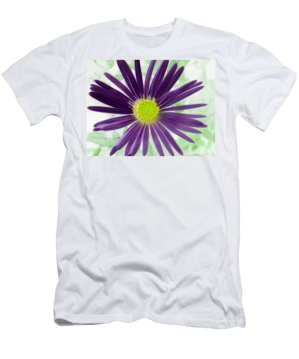 Flower Men's T-Shirt (Athletic Fit) featuring the photograph Purple Haze - Photopower 2858 by Pamela Critchlow