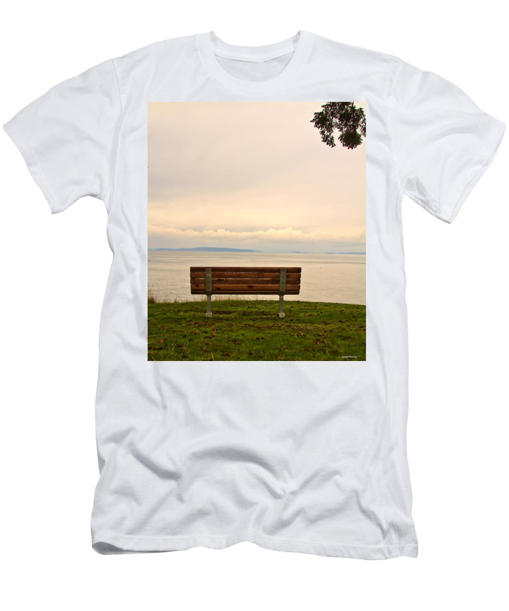 San Juan Islands Men's T-Shirt (Athletic Fit) featuring the photograph Quiet Afternoon by Joseph Noonan