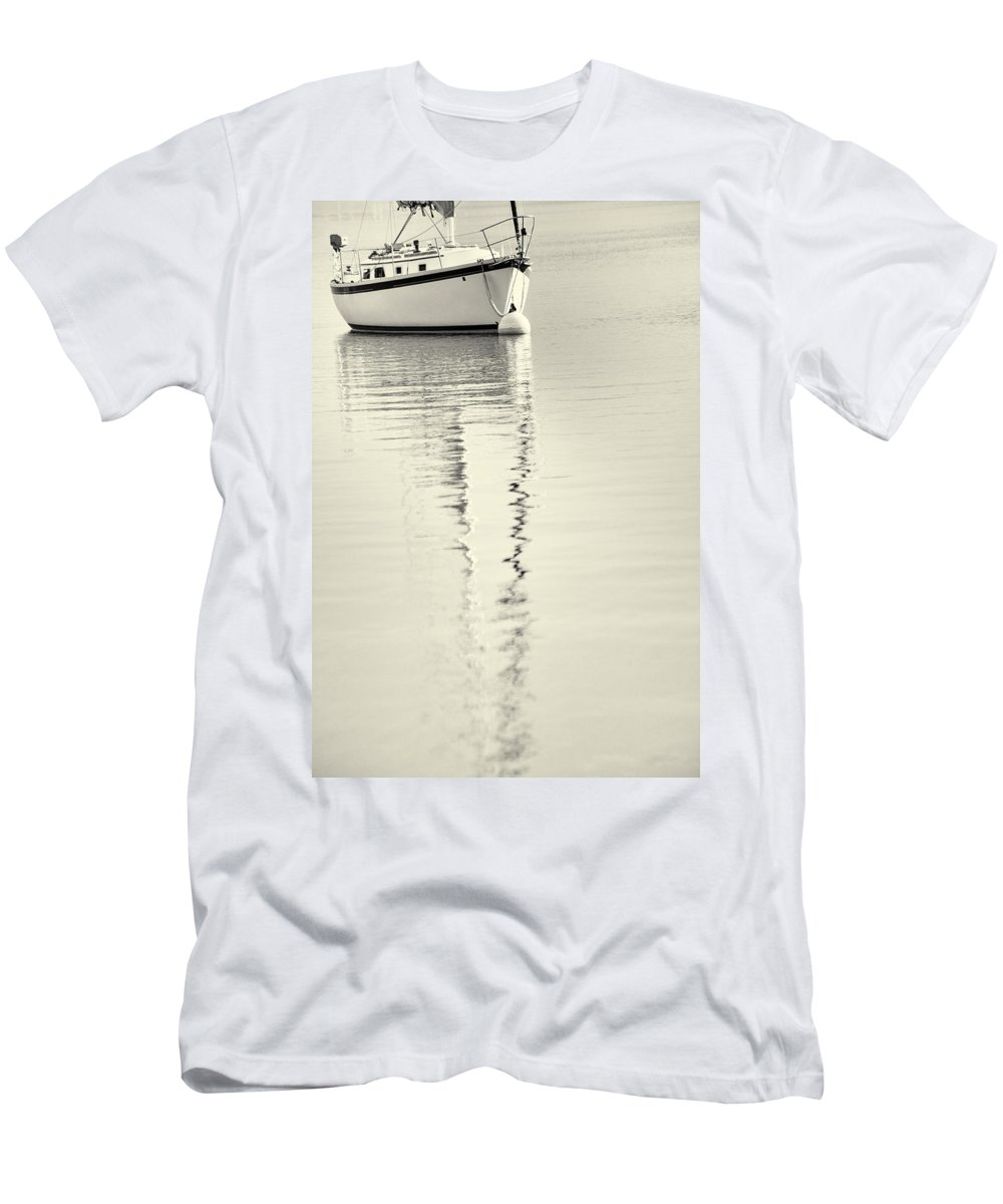 Quiet Water Men's T-Shirt (Athletic Fit) featuring the photograph Quiet Water by Karol Livote