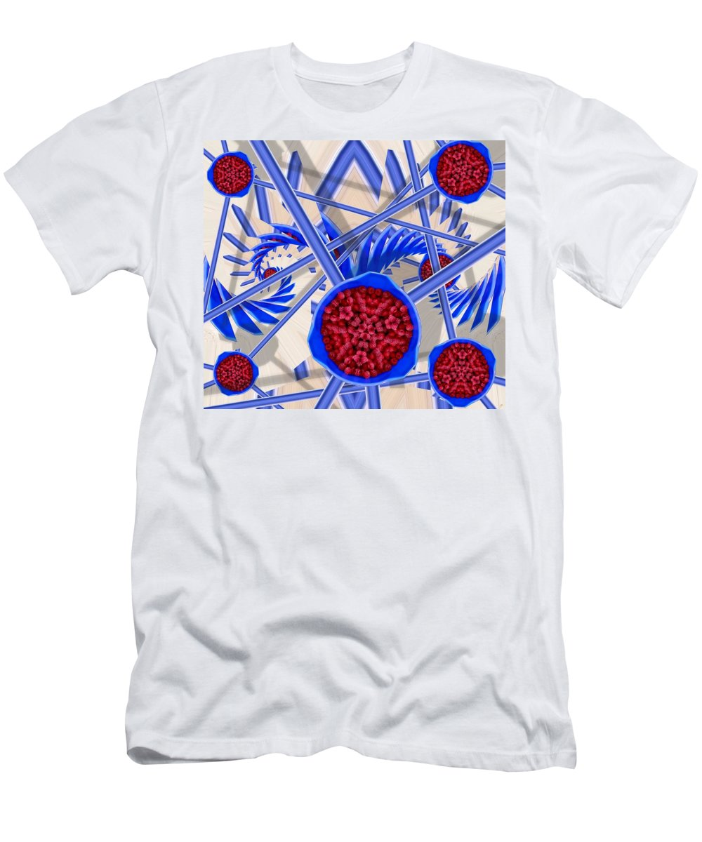 Abstract T-Shirt featuring the digital art Raspberry Regime by Ron Bissett