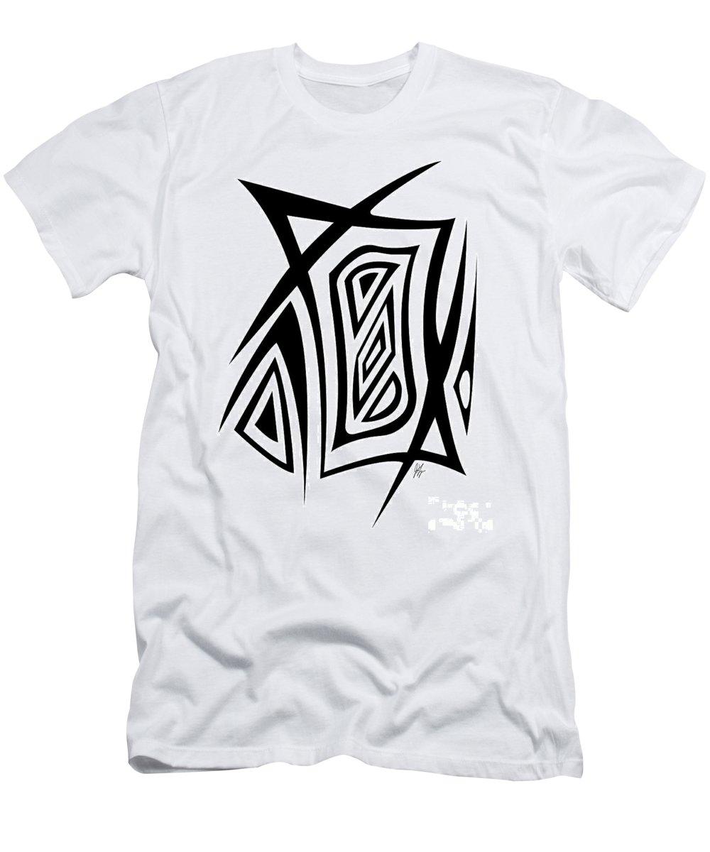 Jamie Lynn Gabrich Men's T-Shirt (Athletic Fit) featuring the digital art Razer Blade by Jamie Lynn