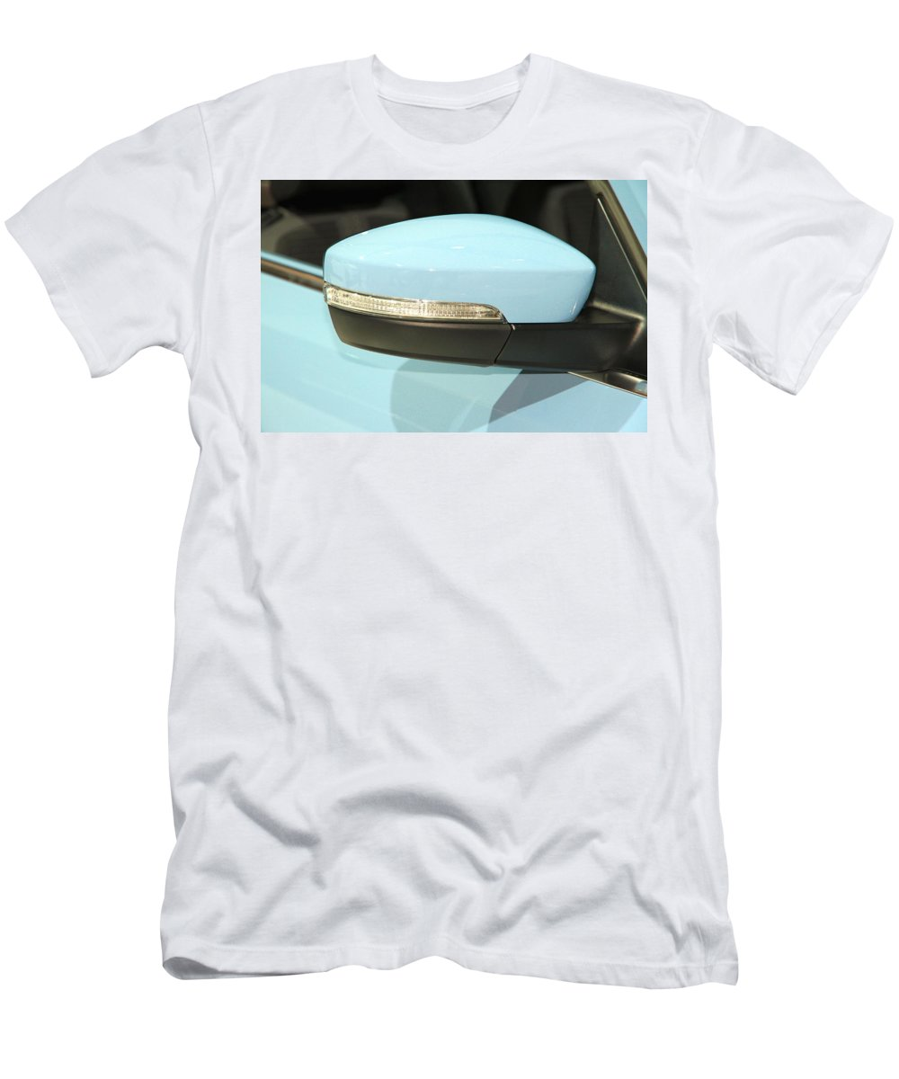 Safety Men's T-Shirt (Athletic Fit) featuring the photograph Rear View Mirror by Valentino Visentini