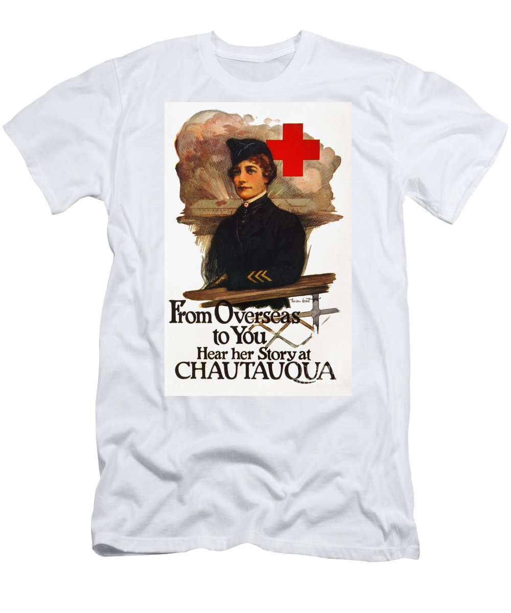 1919 Men's T-Shirt (Athletic Fit) featuring the photograph Red Cross Poster, C1919 by Granger
