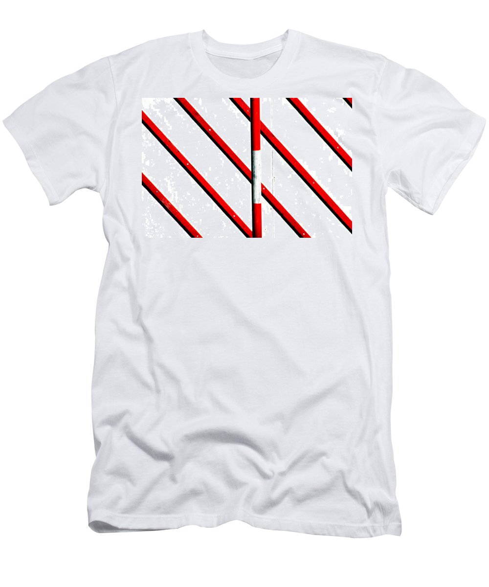 Areyarey Men's T-Shirt (Athletic Fit) featuring the photograph Red Red Line by A Rey