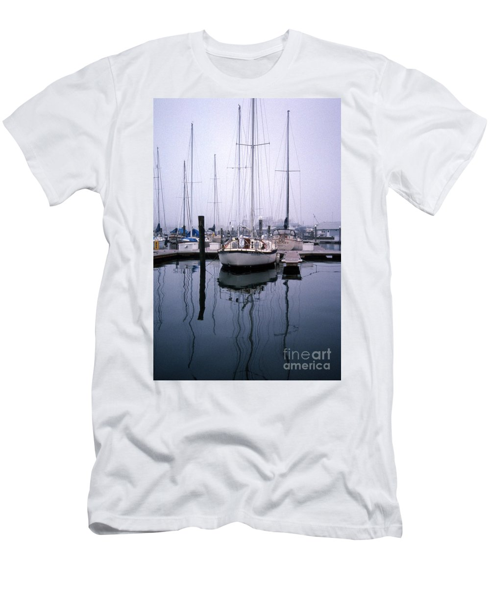 Maritime Men's T-Shirt (Athletic Fit) featuring the photograph Refections Of Serenity by Skip Willits