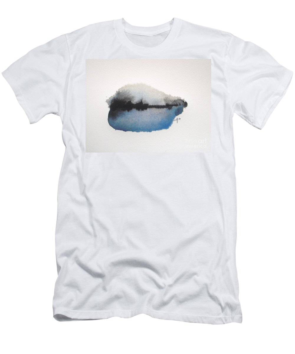 Abstract T-Shirt featuring the painting Reflection in the lake by Vesna Antic