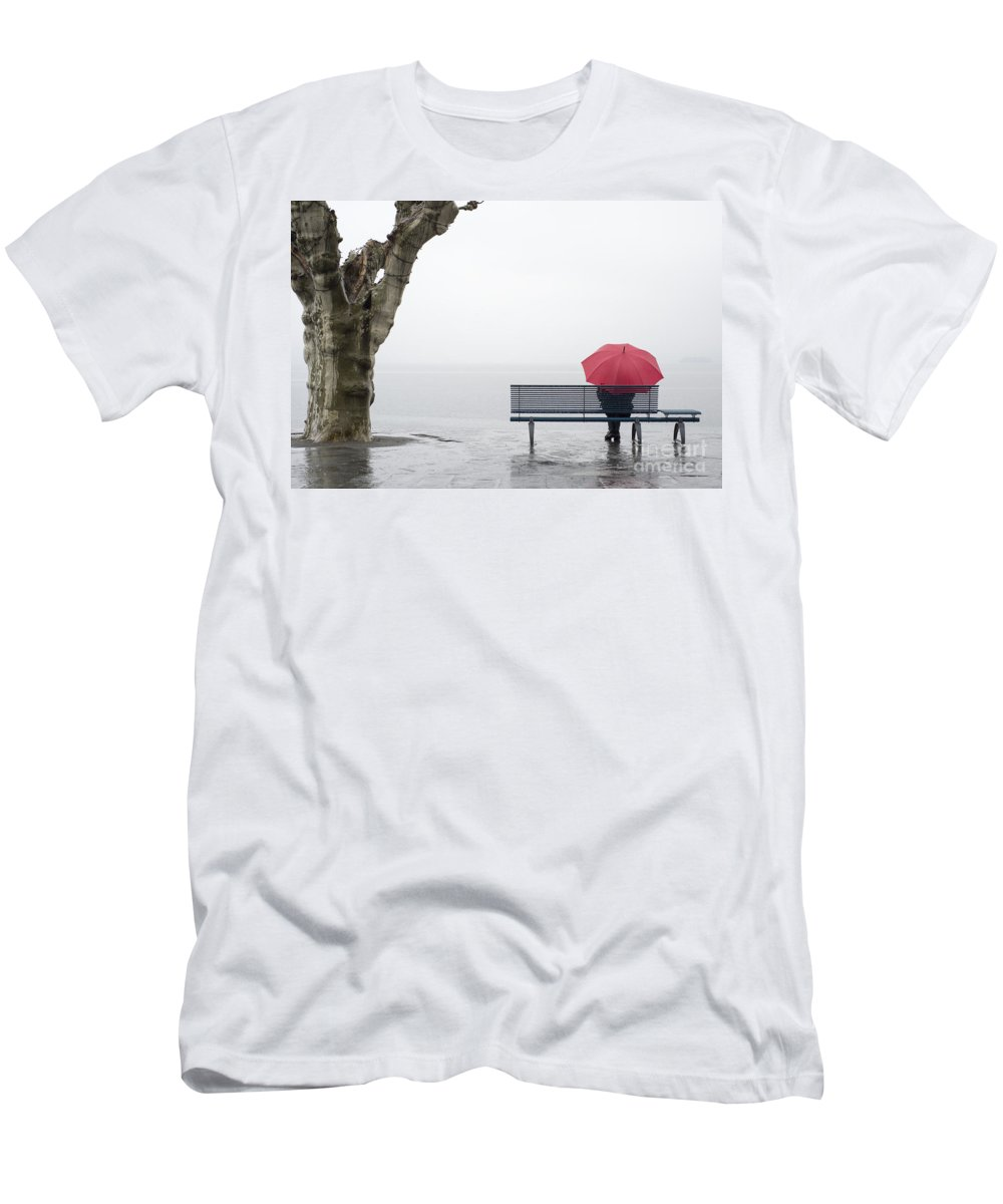 Woman Men's T-Shirt (Athletic Fit) featuring the photograph Relax In The Rain by Mats Silvan