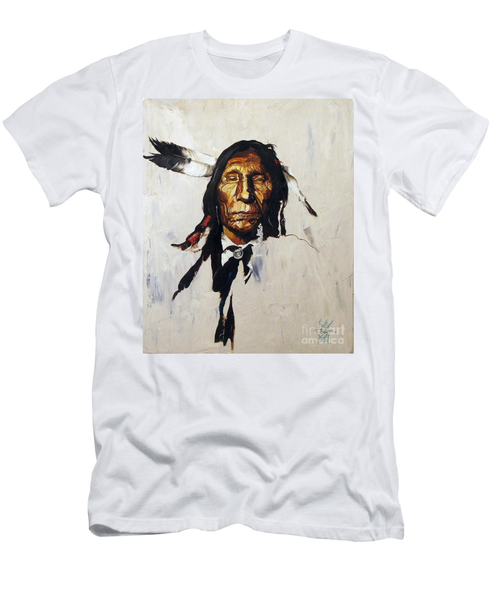 Southwest Art T-Shirt featuring the painting Remember by J W Baker