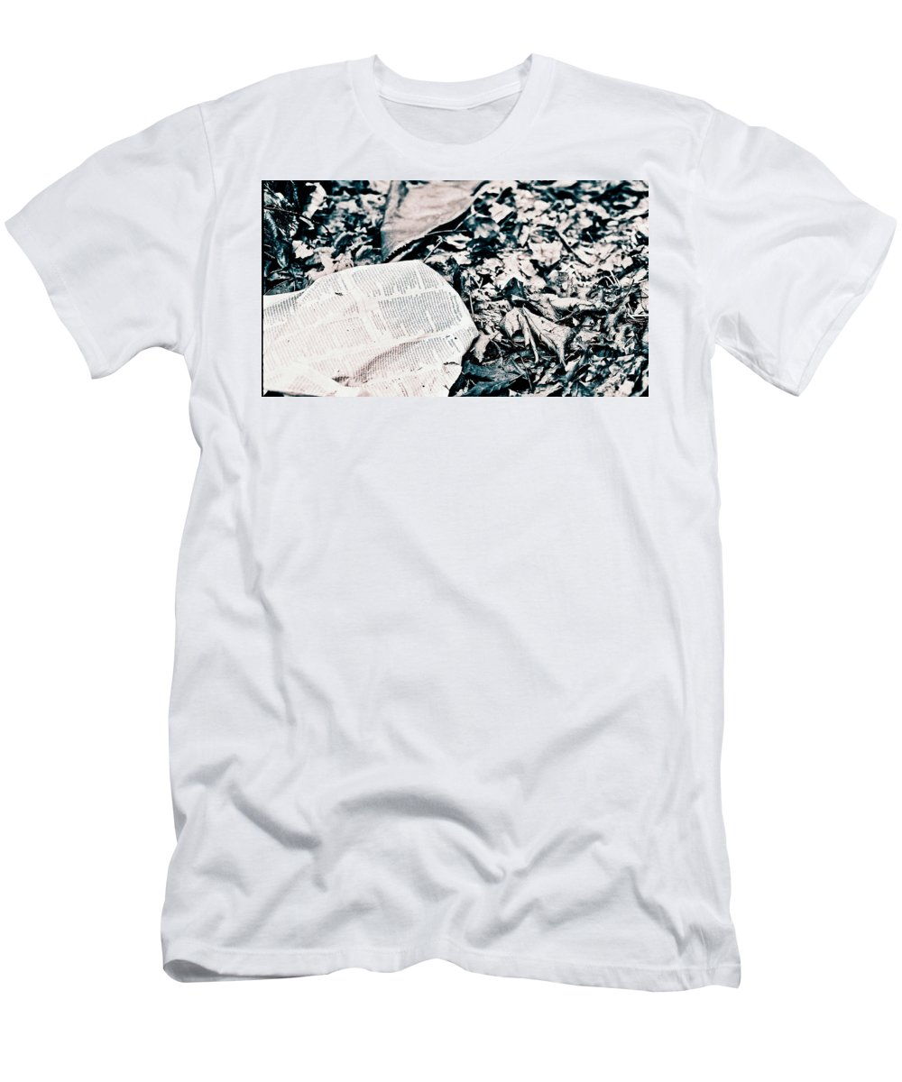 Leaves Men's T-Shirt (Athletic Fit) featuring the photograph Return To Nature by Anna Burdette