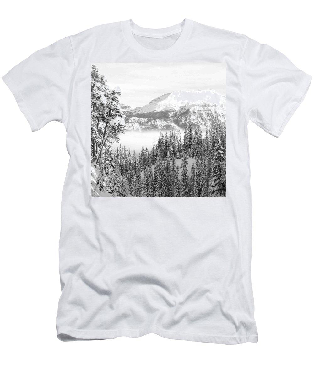 Canada Men's T-Shirt (Athletic Fit) featuring the photograph Rocky Mountain Vista by Cheryl Miller