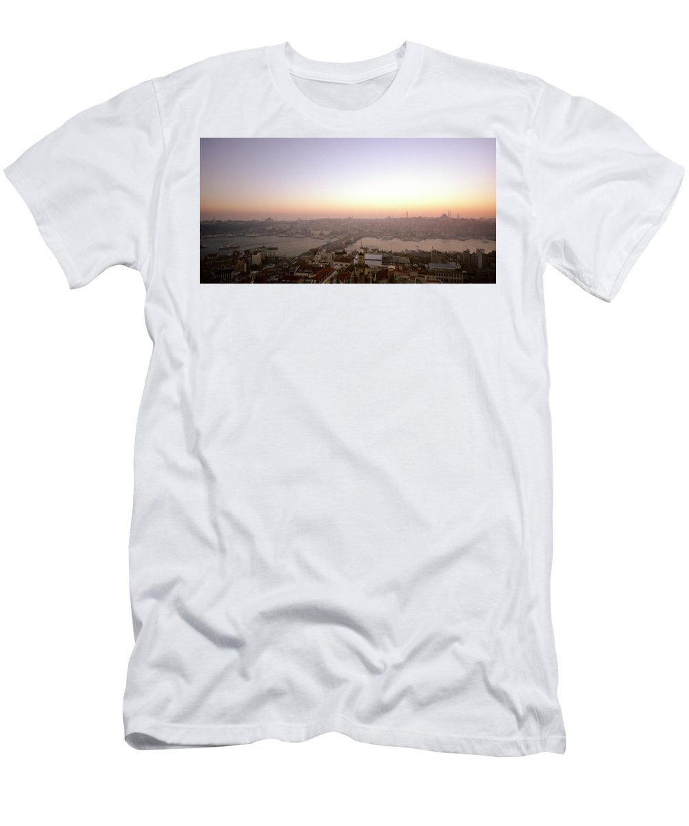Istanbul Men's T-Shirt (Athletic Fit) featuring the photograph Romantic Istanbul by Shaun Higson