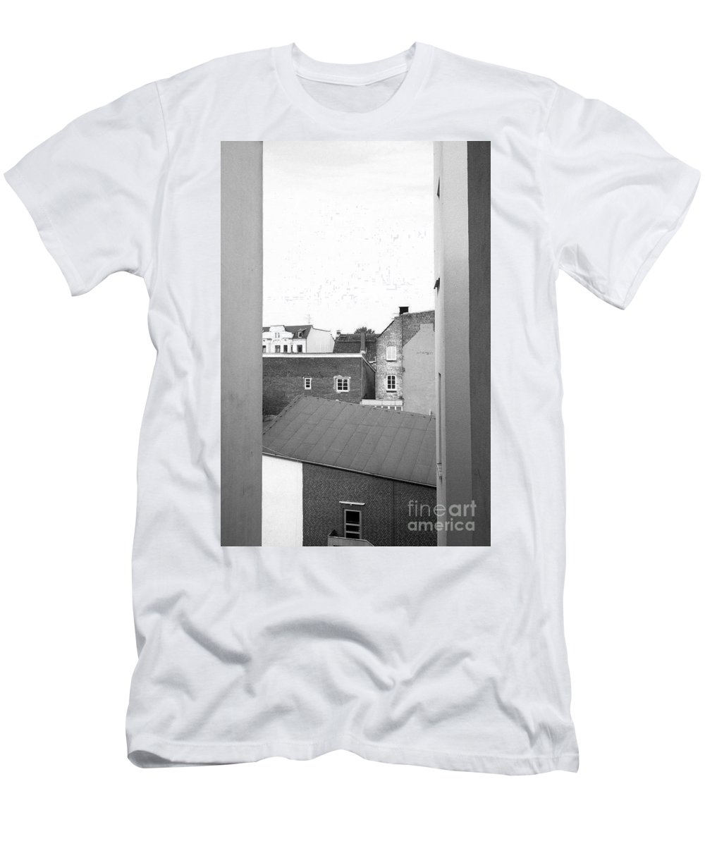 Analog Men's T-Shirt (Athletic Fit) featuring the photograph Roofs by Jannis Werner