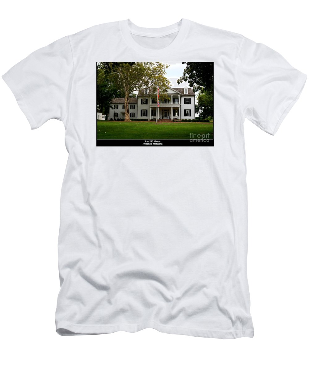 Rose Hill Manor Men's T-Shirt (Athletic Fit) featuring the photograph Rose Hill Manor by Patti Whitten