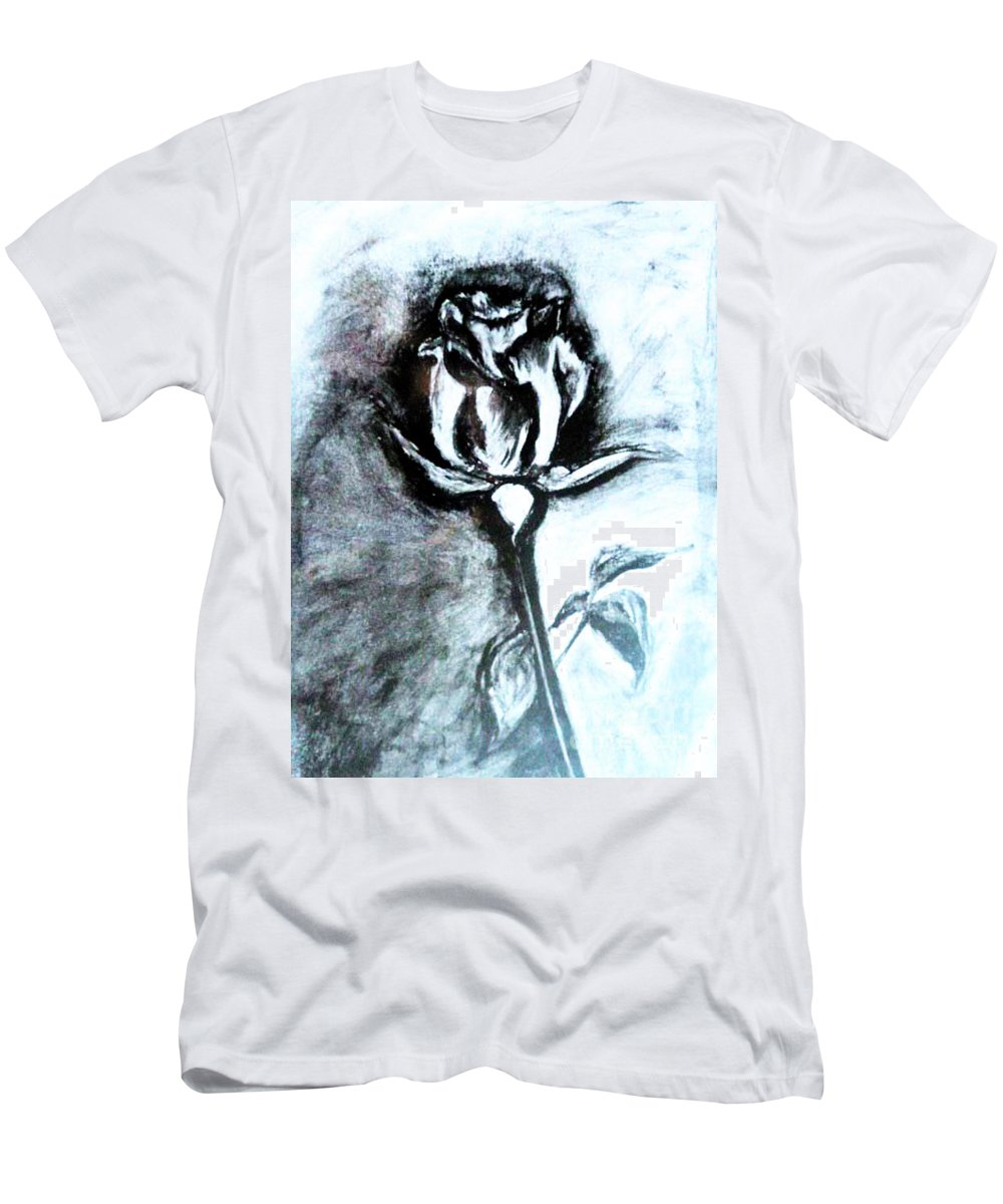 Original Men's T-Shirt (Athletic Fit) featuring the painting Rosebud by Kusum Vij